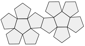 Dodecahedron on dice diagram