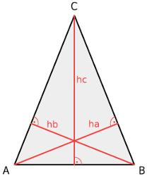 schwerpunkt gleichschenkliges dreieck