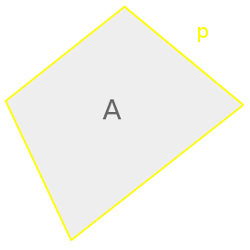 Cyclic quadrilateral, perimeter and area