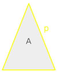 Isosceles triangle, perimeter and area