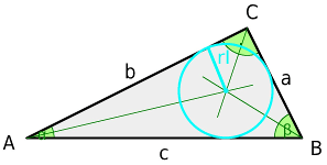Right triangle, bisecting lines and incircle
