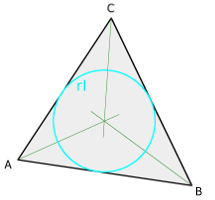 Isosceles triangle, bisecting lines and incircle