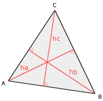 Isosceles triangle, heights